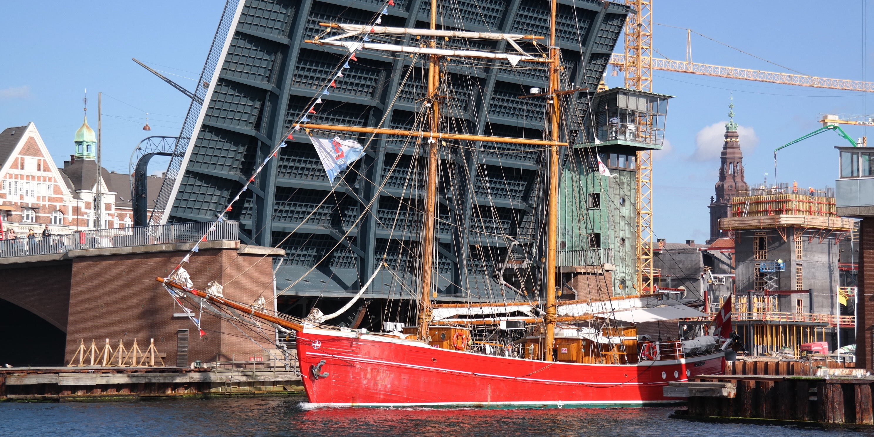 Legeskibet Lilla Dan i Københavns Havn september 2015